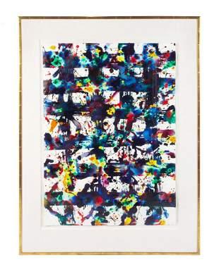 * Sam Francis, (American, 1923-1994), Untitled