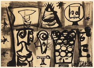 Adolph Gottlieb, (American, 1903-1974), Composition,