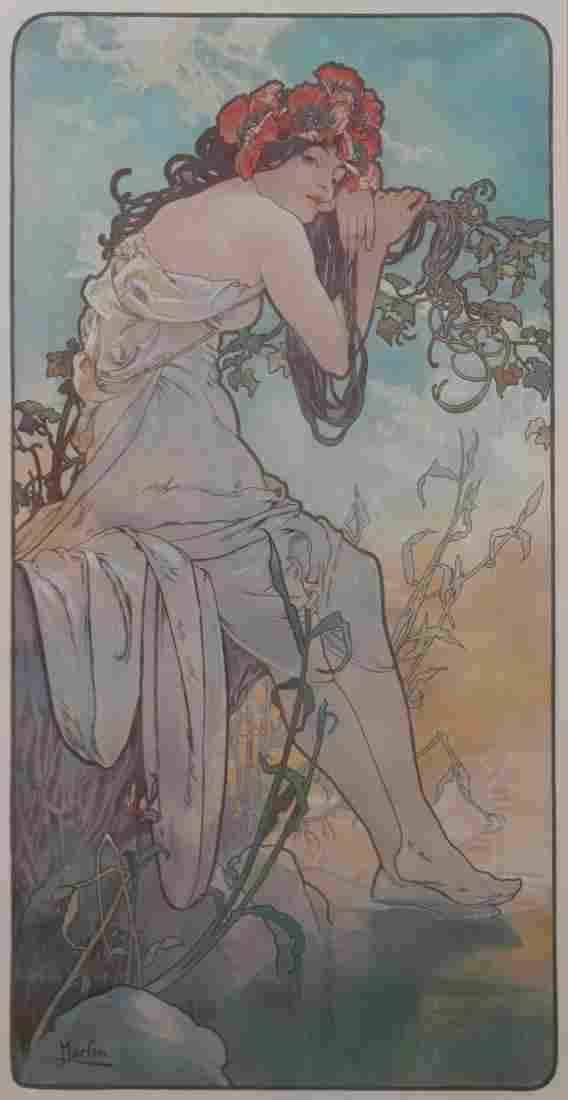 Alphonse Mucha, (French, 1860-1939), The Seasons, 1896
