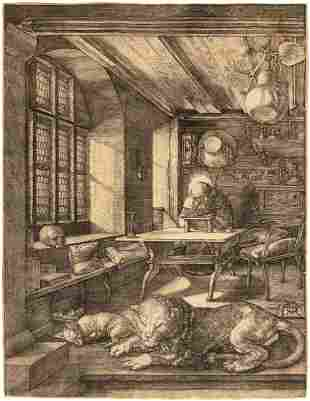 Albrecht Dürer, (German, 1471-1528), Saint Jerome in