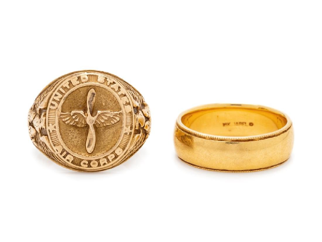 A Collection of Yellow Gold Rings,