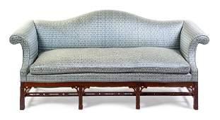 A George III Style Mahogany Sofa