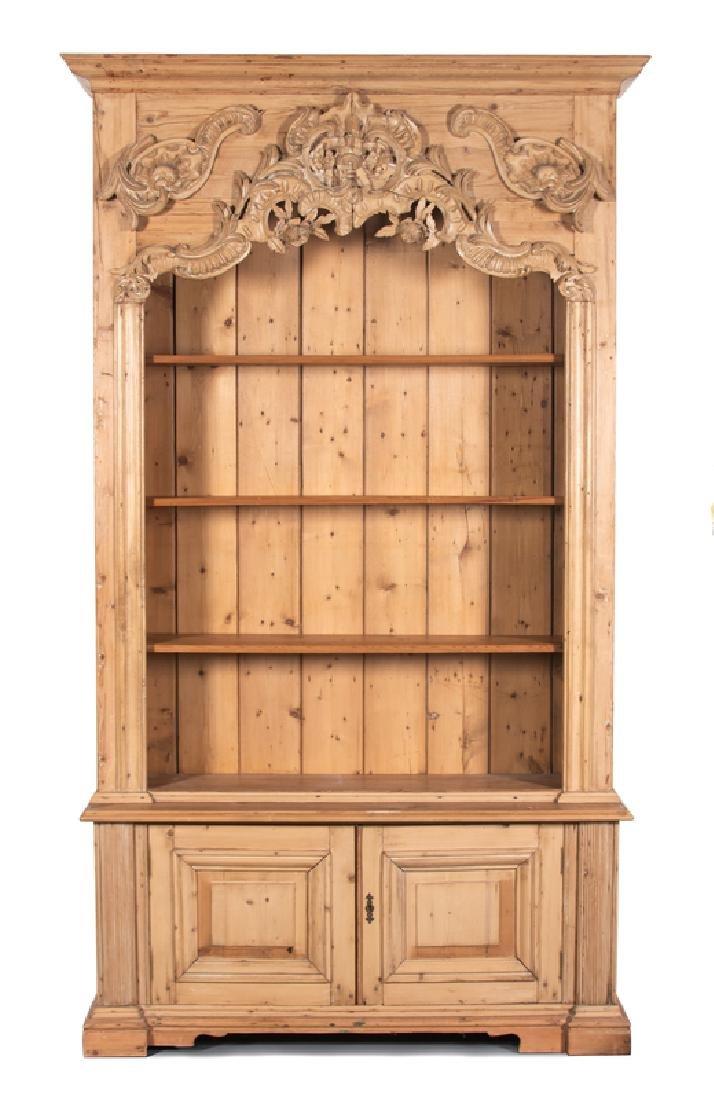 A Rococo Style Pine Bookcase