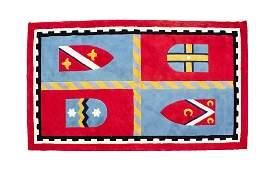 A Custom Machine-Made Wool Rug