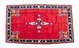 A Custom Machine-Made Heraldic Rug