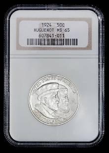 A United States 1924 Huguenot Commemorative 50c Coin