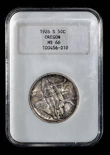A United States 1926S Oregon Commemorative 50c Coin