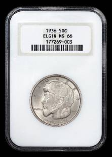A United States 1936 Elgin Commemorative 50c Coin NGC