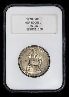 A United States 1938 New Rochel Commemorative 50c Coin