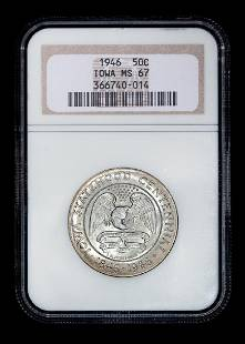 A United States 1946 Iowa Commemorative 50c Coin NGC