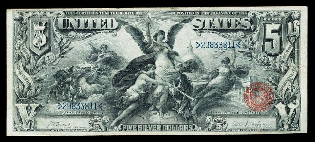 *A United States 1896 Educational $5 Silver Certificate
