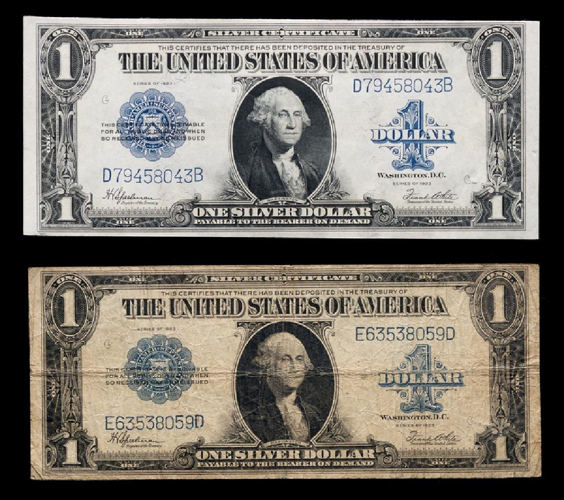 *Two United States Series 1923 $1 Silver Certificates