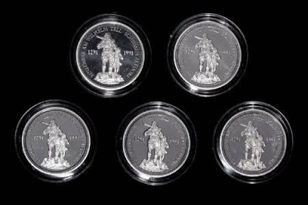 *A Group of Five Swiss Confederation 1986 William Tell