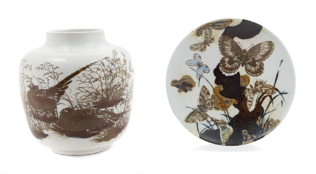 A Group of Royal Copenhagen Stoneware Articles