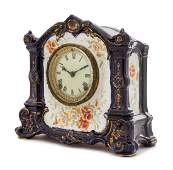 A Royal Bonn Porcelain Mantel Clock LATE 19TH