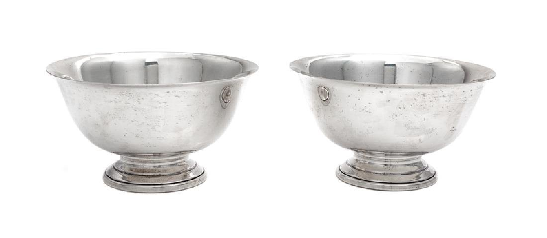 A Pair of American Silver Revere Bowls Amston