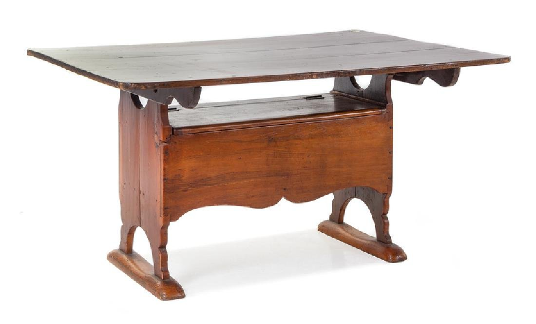 An American Cherry Metamorphic Table the top