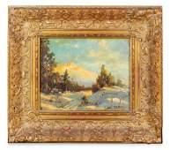 Paul Arndt American 18811978 Winter Landscapeoil on