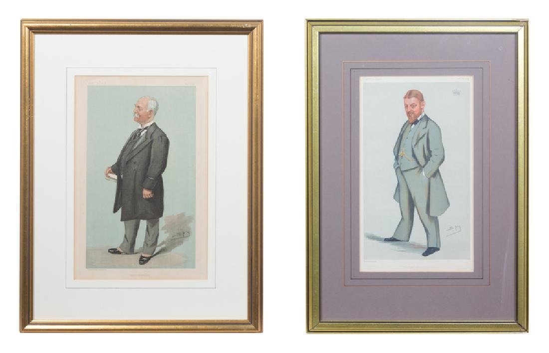 (ILLUSTRATIONS) VANITY FAIR 2 prints, matted and