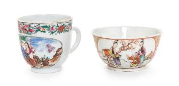 Two Chinese Export Famille Rose Porcelain