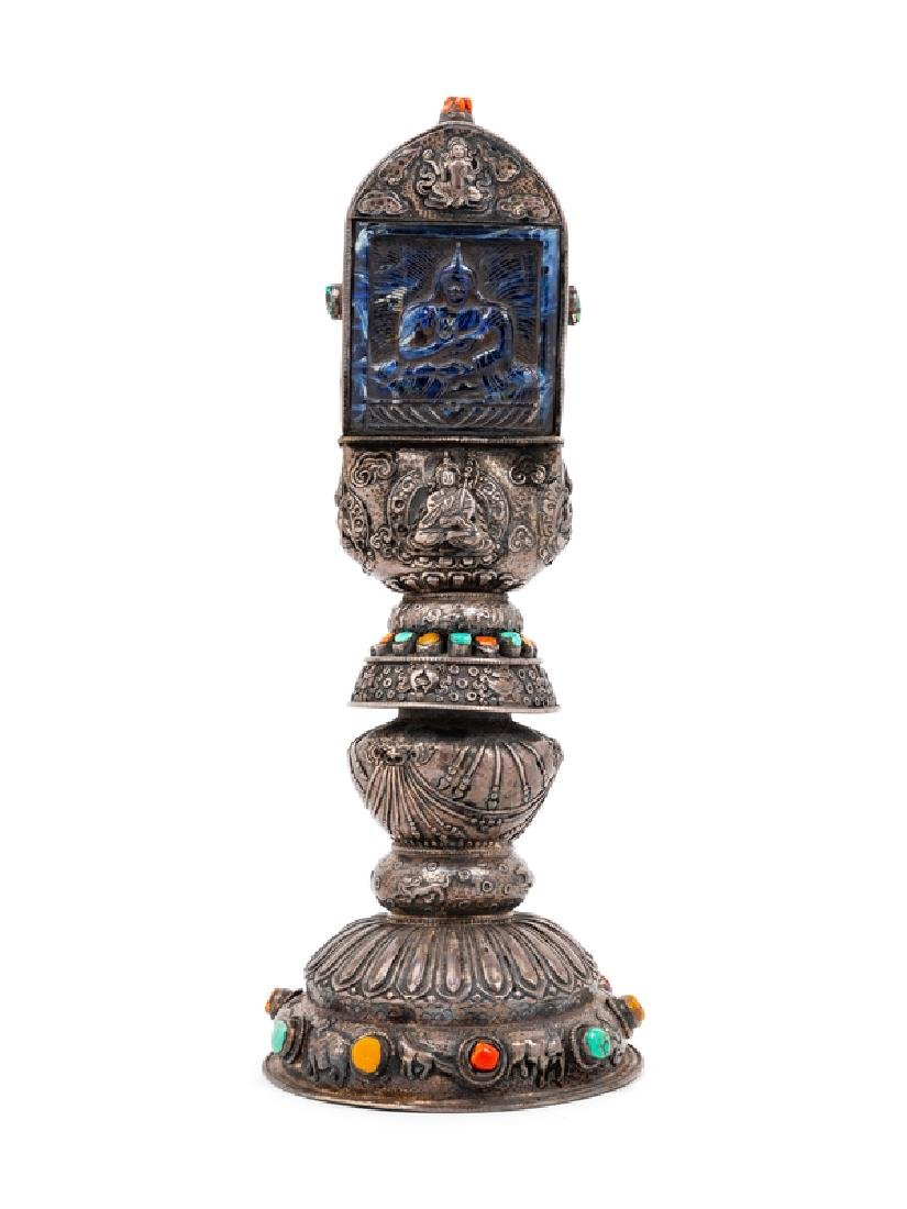 A Sino-Tibetan Silver Alter Piece LATE 19TH/EARLY 20TH