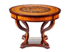A French Neoclassical Style Marquetry Center Table