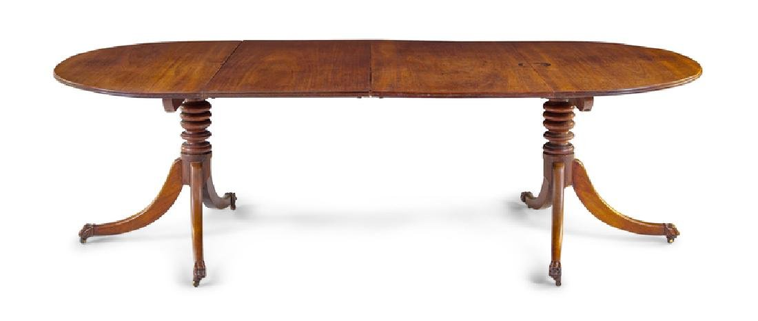 *A George III Mahogany Double Pedestal Dining Table