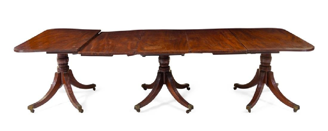 A George III Mahogany Three-Pedestal Dining Table First