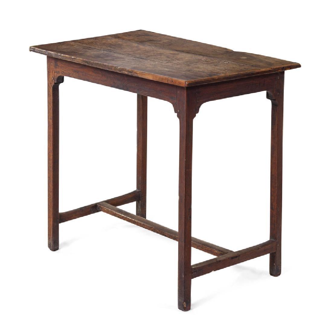 *A Primitive Oak Tea Table