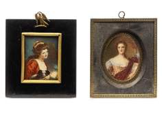 Two Continental Portrait Miniatures LATE 19TH