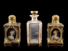 Three French Scent Bottles LATE 19TH/EARLY 20T