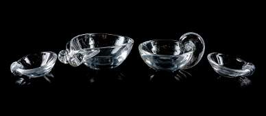 A Group of Four Steuben Glass Articles Height