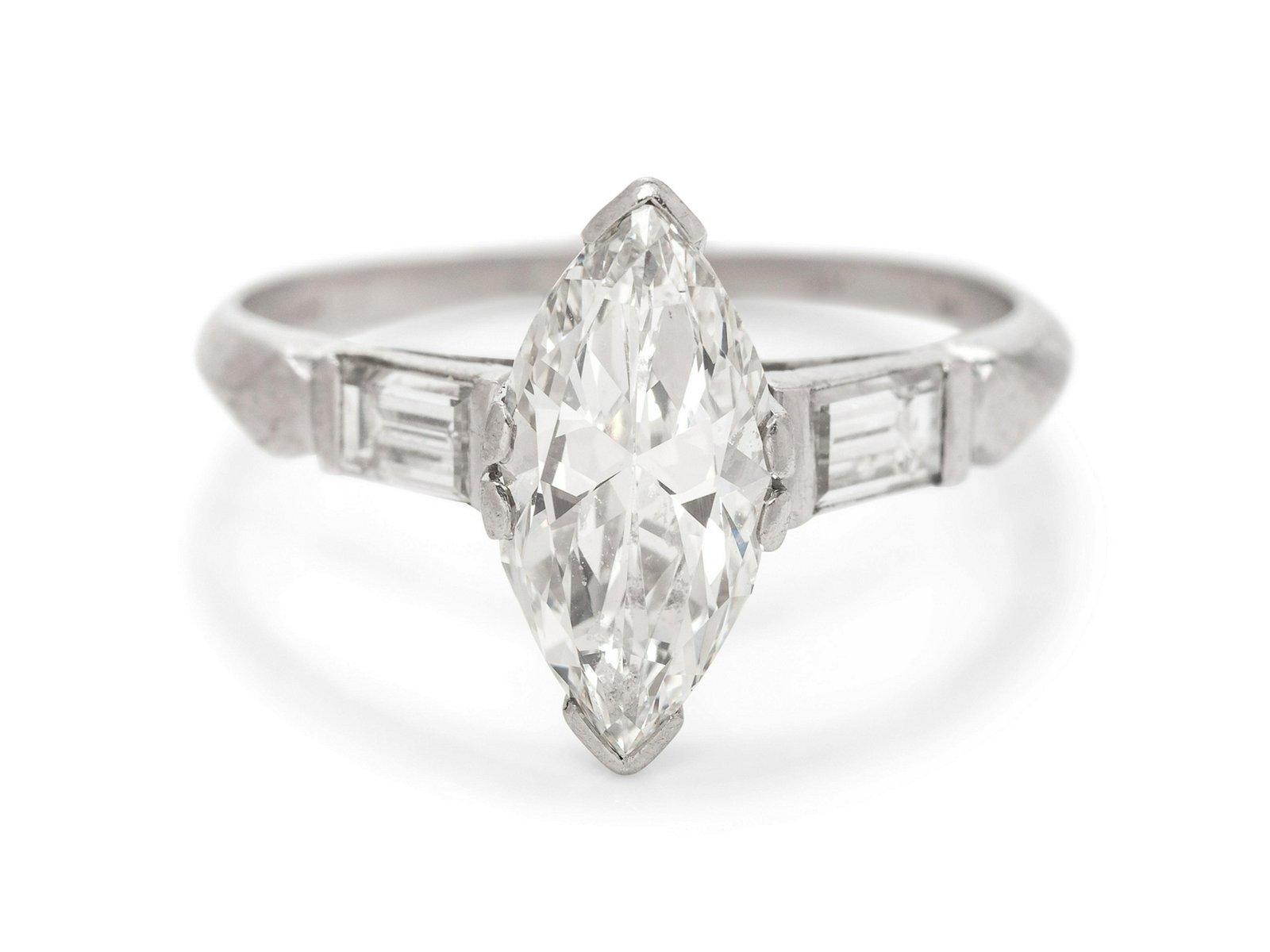 A Platinum and Diamond Ring,
