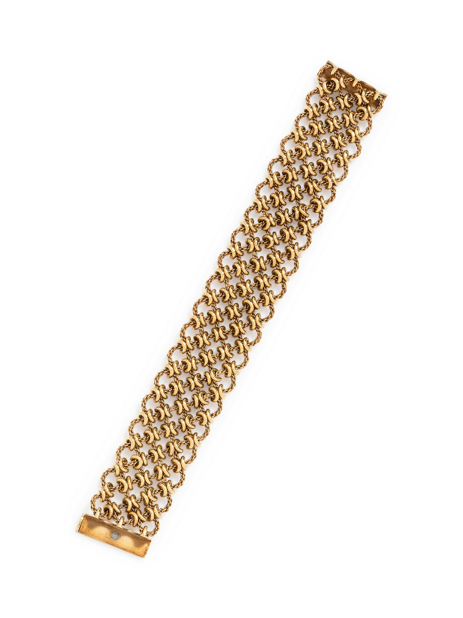 An 18 Karat Yellow Gold Bracelet, French,
