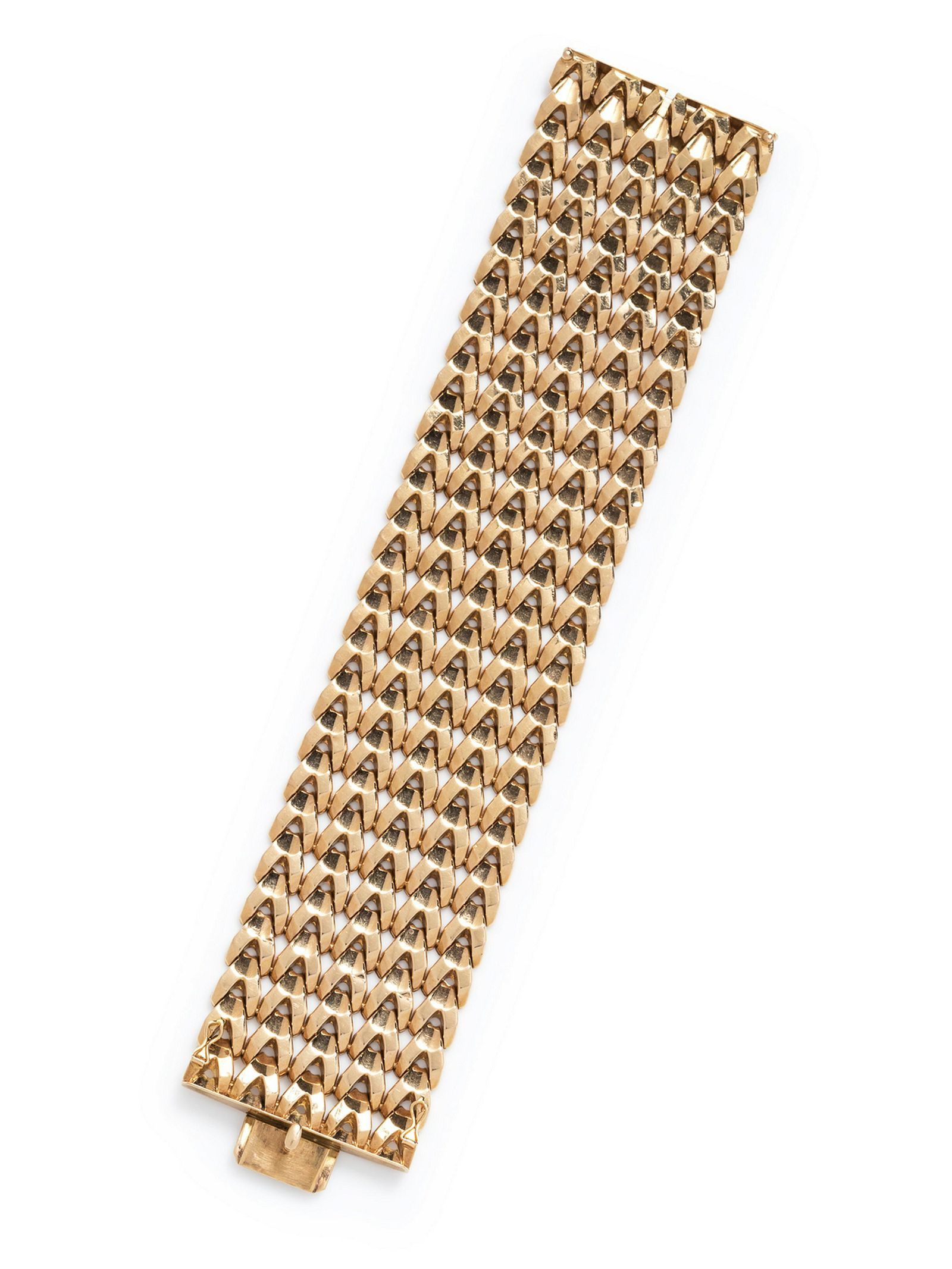 A Vintage 18 Karat Yellow Gold Bracelet, Italian,