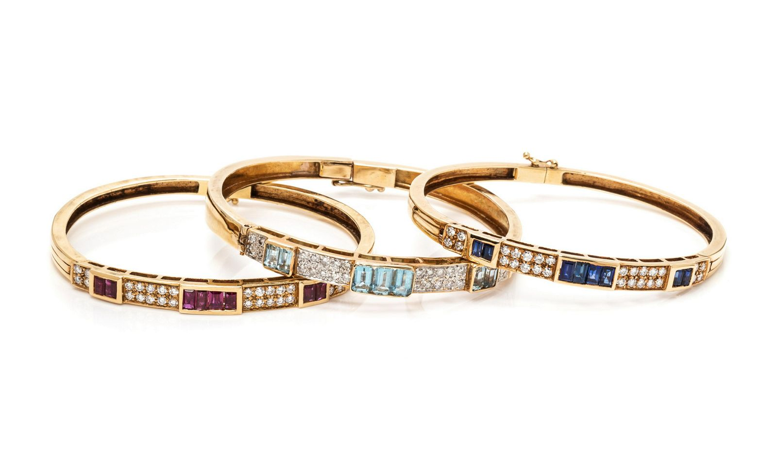 A Collection of Yellow Gold, Diamond and Multigem
