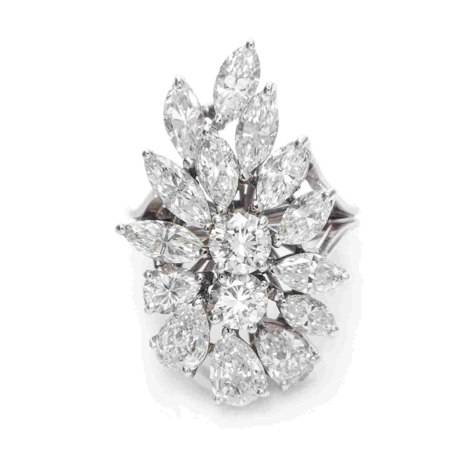 A White Gold and Diamond Ring,