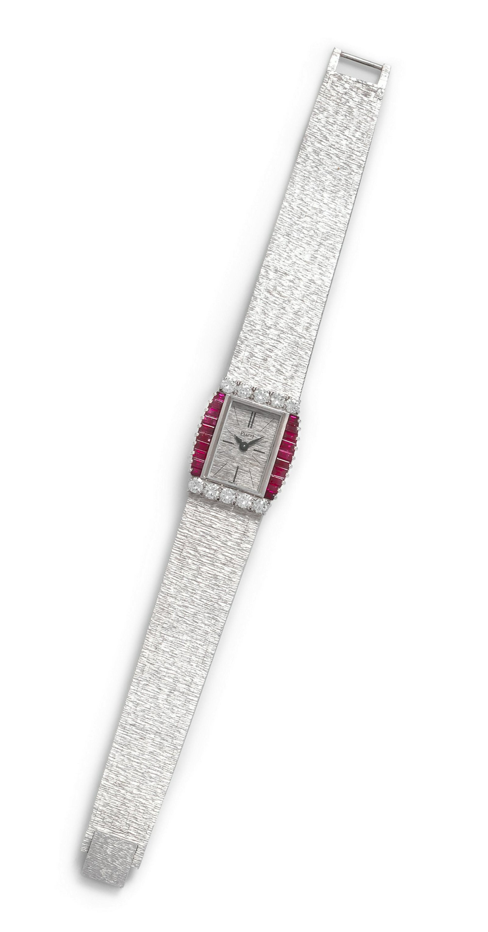 An 18 Karat White Gold Diamond and Ruby Ref. 3876A6
