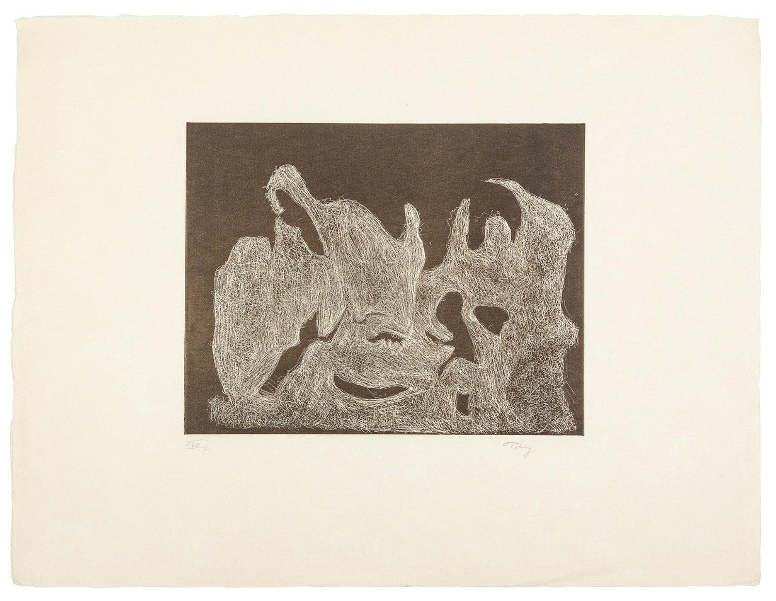 Mark Tobey (American, 1890-1976) Awakening Dawn a