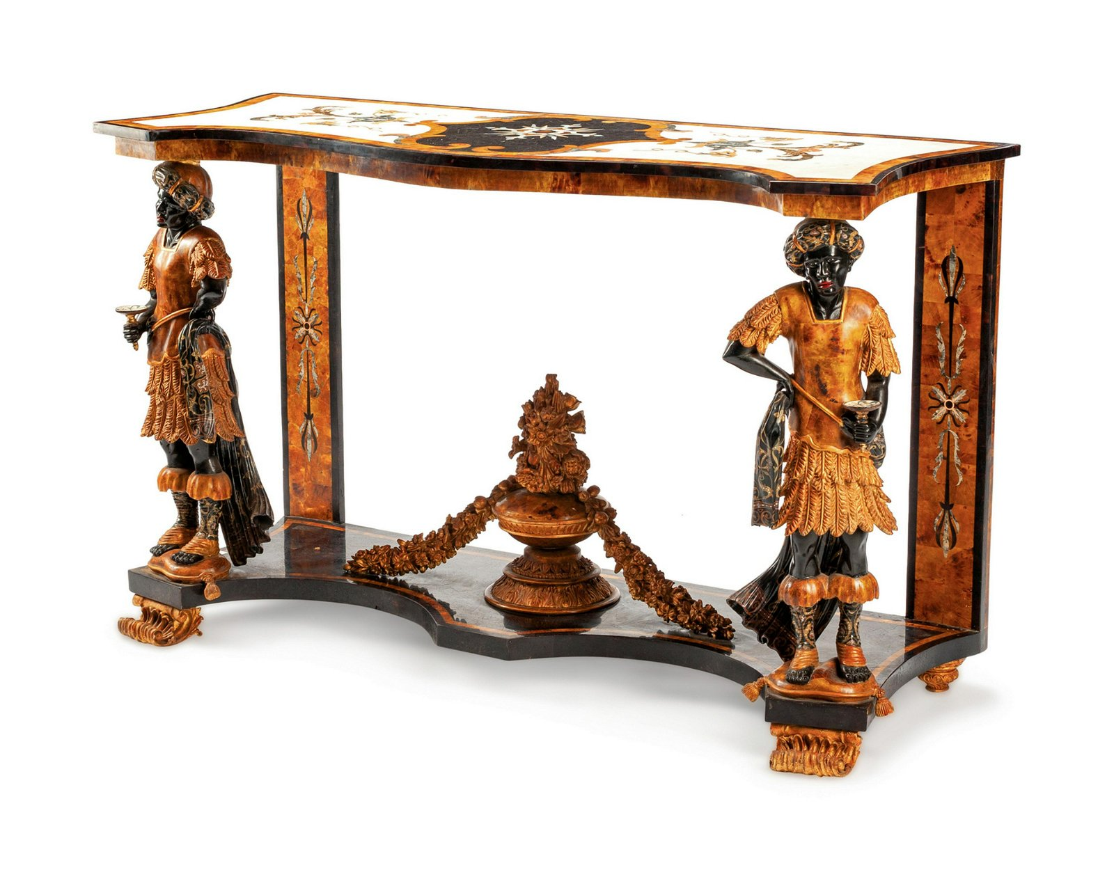 An Italian Specimen Marble Console Table