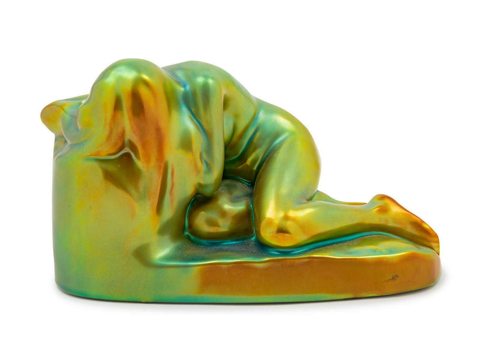 A Zsolnay Iridescent Figural Group