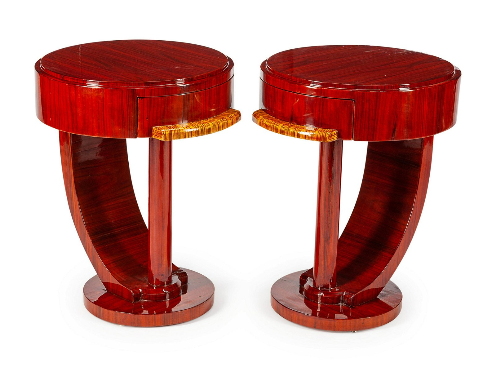 A Pair of Art Deco Style Nightstands