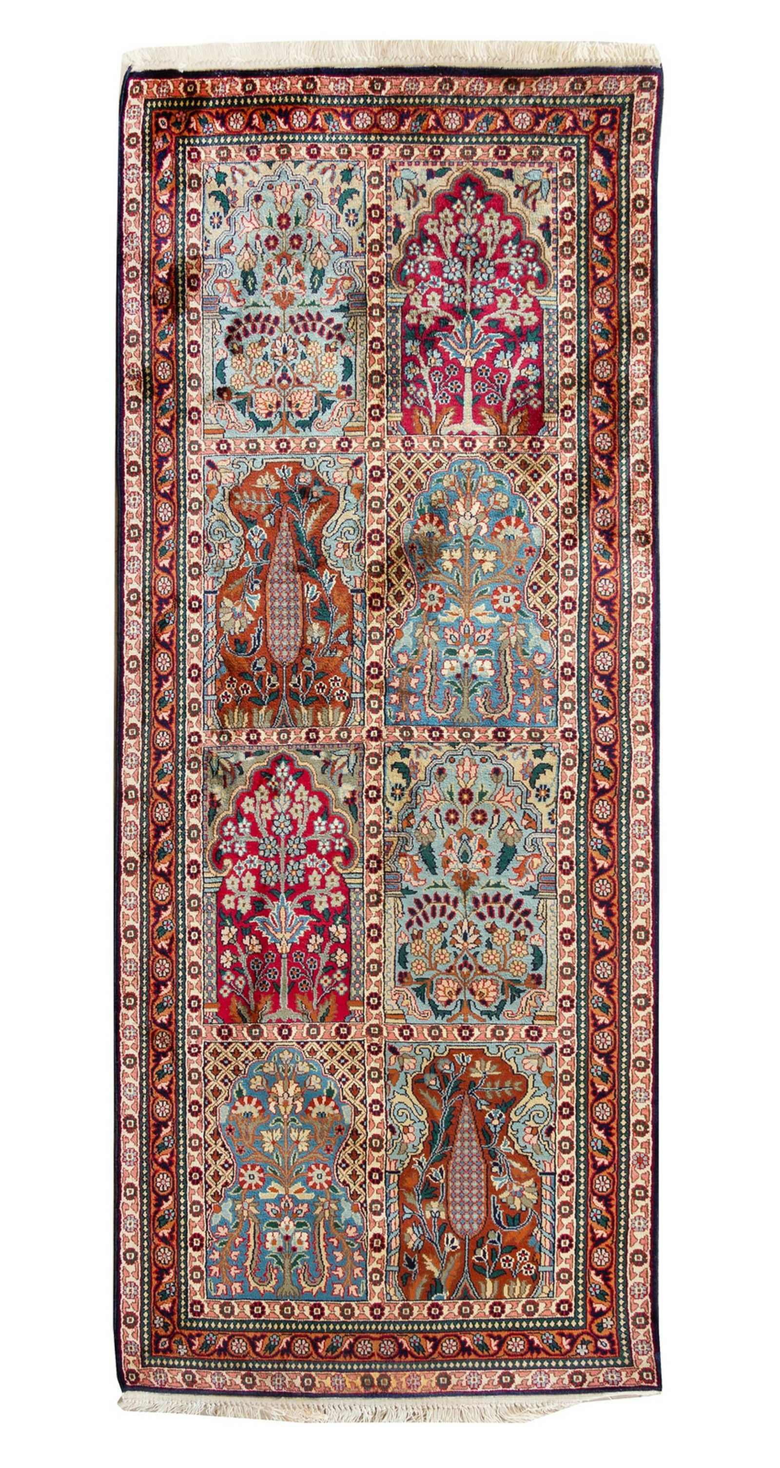 An Indo-Bakhtiari Silk Rug