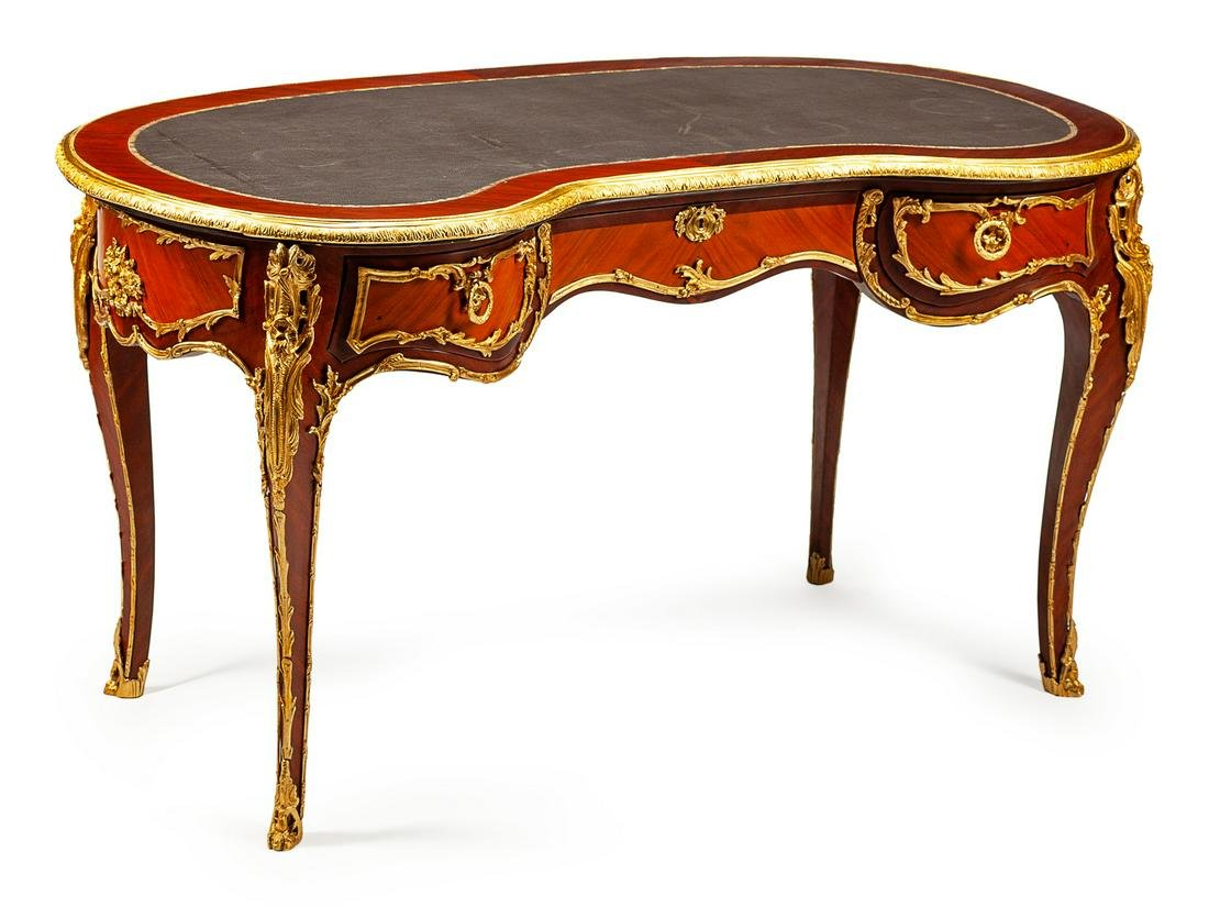 A Louis XV Style Gilt-Bronze-Mounted Kingwood and