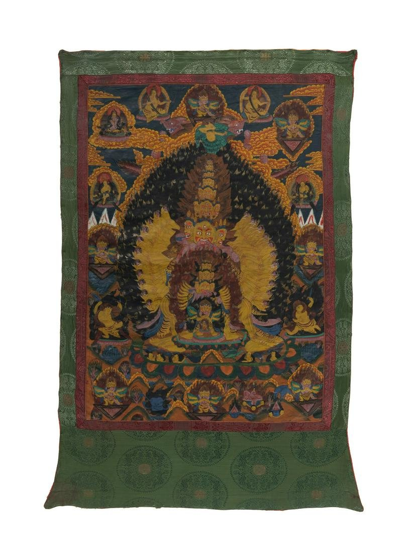 A Tibetan Thangka: Chemhok Heruka