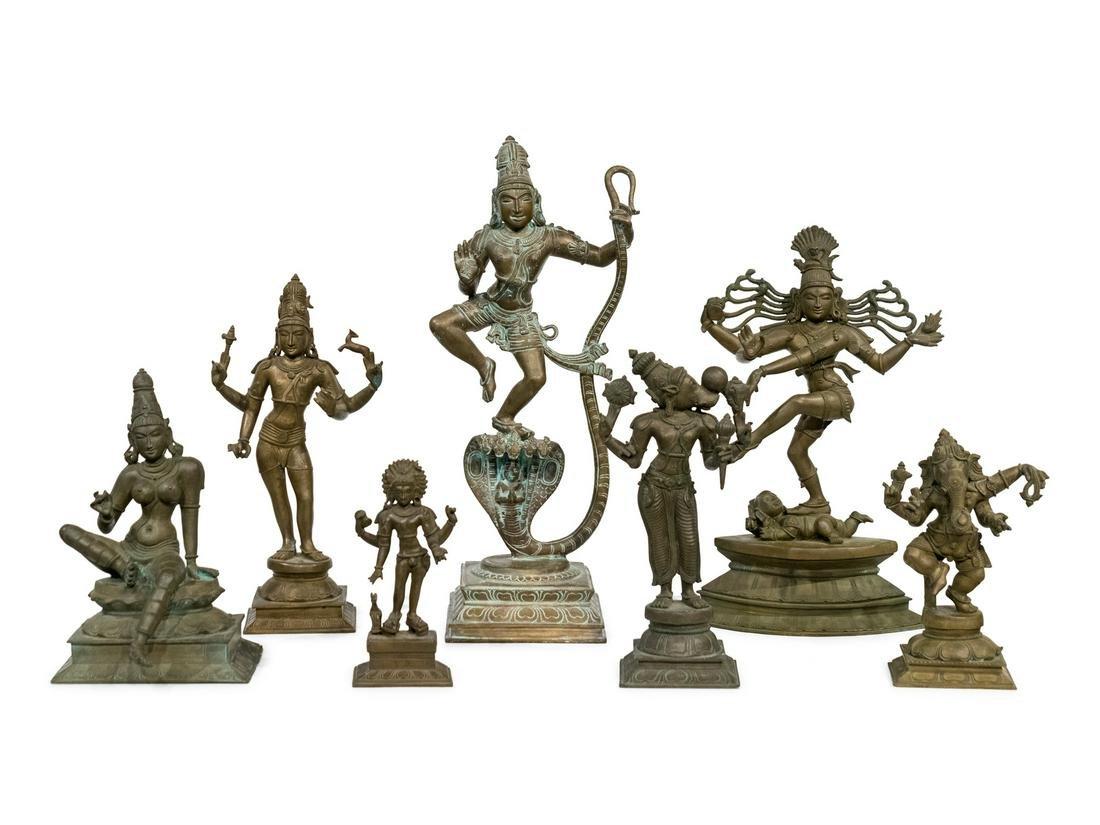 Seven Indian Bronze Figures