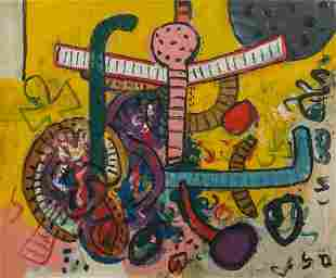 Alan Davie (Scottish, 1920-2014) Fly Away Little Happy