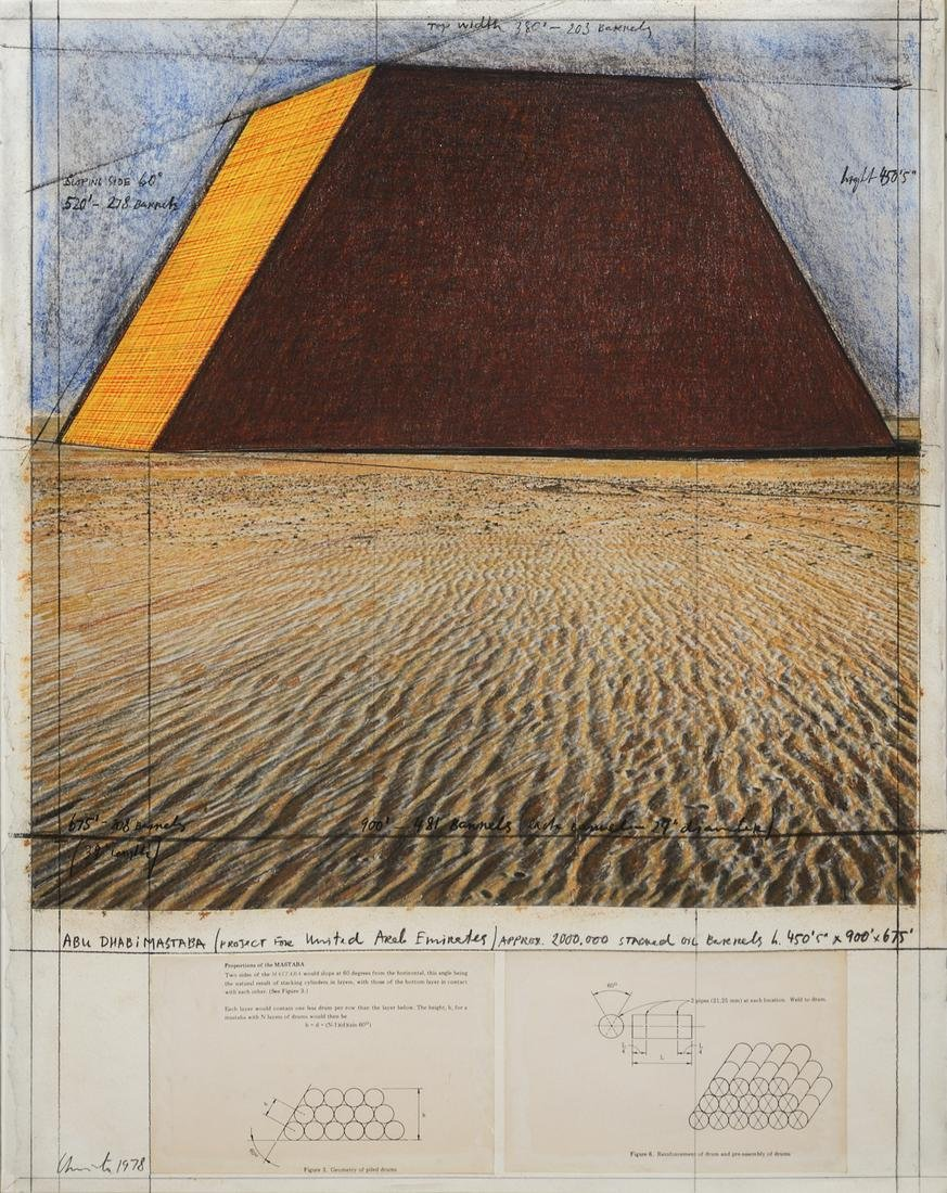 Christo and Jeanne-Claude  (American, b. 1935)  Abu