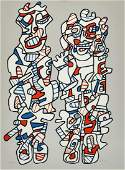 Jean Dubuffet French 19011985 Delegation 1974