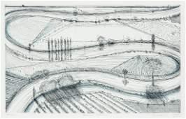 Wayne Thiebaud (American, b. 1920) River Turns